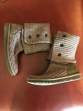Ladies Gray UGG Sweater Boots US Size 6