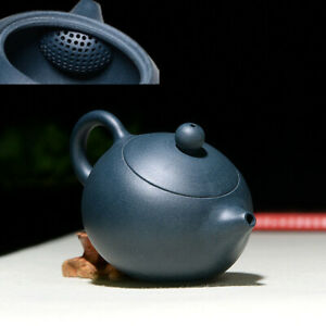 6oz handmade tea pot ball shaped infuser holes water lock yixing zisha xishi pot