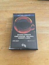 Chet Baker Jim Hall Hubert Laws Studio Trieste Cassette Tape 1982 CTI Nice Shape