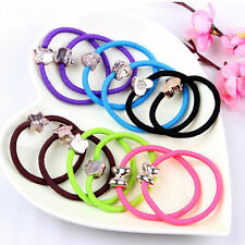 5pc Women's Metal Colorful Elastic Hair Band Rope Scrunchie Girl Ponytail Holder