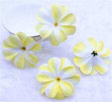 20X Hawaiian Plumeria Yellow Artificial silk/cloth flower Heads Crafts Decor