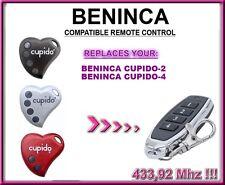 Beninca CUPIDO 2 / Beninca CUPIDO 4 Compatibile Telecomando 433,92Mhz