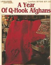A Year of Q-Hook Afghans Crochet Instruction Patterns Mary Ann Sipes LA#2736