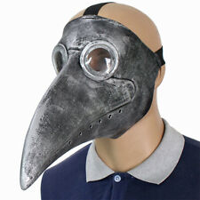 Deluxe Plague Doctor Long Nose Latex Masks Lights Bird Crow Face Masks Halloween