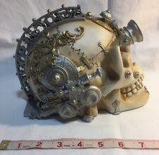 Erasmus Darwin's Steam-Cerebrum  Alchemy Skull  Gears Steampunk  Resin New