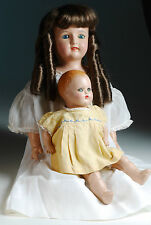 "1924-29 Carrie Joy Ideal doll 19"" plus composition baby doll 11"""