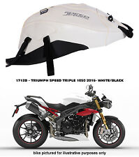 BAGSTER CUSTOM TANK COVER -TRIUMPH SPEED TRIPLE 1050 2016 - WHITE/BLACK