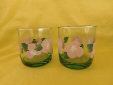 Pfaltzgraff Garland Blush 8 oz JUICE GLASS LOT of TWO 2 have more items