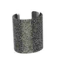 3.25 Black Pave Crystal Cuff  Bangle Statement Bracelet, Pageant, Drag Queen
