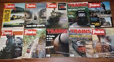 VINTAGE TRAINS MAGAZINE OF RAILROADING LOT 1973-94 COLLECTION OF 10 ISSUES