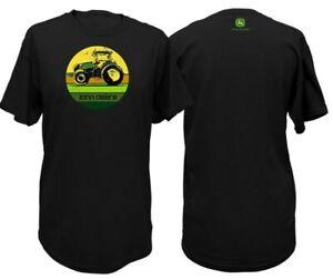 NEW John Deere Black Circle Tractor T-Shirt Size M L