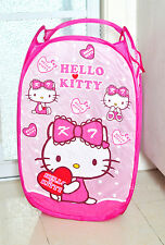 Cute Hello Kitty Home Foldable Laundry Toys Basket Tidy Clothes Socks Storage