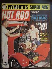 Hot Rod Magazine January 1963 Plymouth's Super 426 Charlotte 400 Stock Car JJ AX