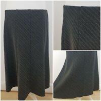 M&S Marks and Spencer Womens Grey Long Length Skirt Smart Work Office 16