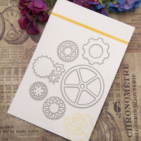 Gears Metal Cutting Dies Stencil Scrapbooking Card Paper Embossing Craft  BLY