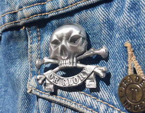 Death or Glory Pewter Pin Badge