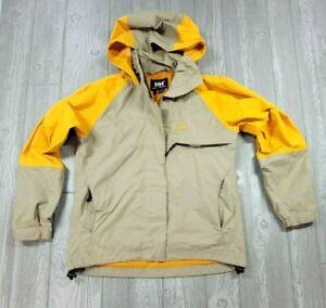Helly Hansen Tech 3 Waterproof Outdoor Hooded Jacket Sz Small Yellow Unisex
