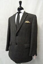 Men's Brook Taverner Grey Checked Tweed Jacket Blazer 42R AA46