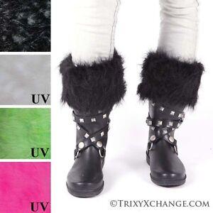 Monster Fur Rain Boot Liners Socks Black Wellie Polar Fleece Leg Warmers Thermal