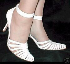 NEW SeXy WHITE STRAPPY SANDALS SHOES PUMPS  (ae54)  8