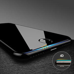 Pellicola Vetro Temperato 4D CURVO Protezione Completa per iPhone X 7 8 6 S PLUS
