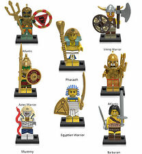 Gladiatus Pharaoh Aztec Atlantis Mummy Viking 8 Minifigures Building Toys lEGO