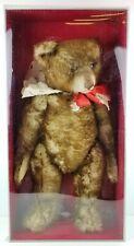 "Steiff 1926 Teddy Bear Replica 407239 Happy Anniversary 26"" Tall Grey Brown Tip"