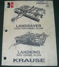 Krause Landsaver Disk Chisel Plow Parts Operation Amp Maintenance Manual Book