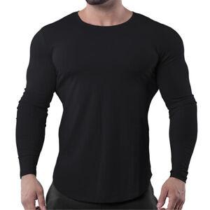 Men Compression Long Sleeve Shirt Slim Fitness T Shirt Sport Gym Sweatshirt