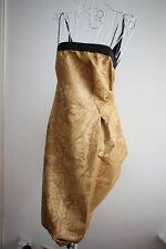 MaxMara SPORTMAX Golden Cocktail Dress I40/F38/GB8/US6  NWT $1.5K