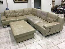 Modular LEATHER corner lounge plus ottoman