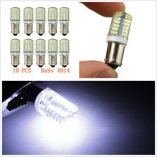 10 Pcs 12V 160LM 2W Car SUV BA9S T11 T4W LED 24-SMD Side Light Lamps Bulbs White