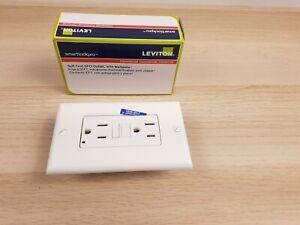 Leviton GFTR1-W SmarTest Self-Test SmartlockPro Slim GFCI Tamper-Resistant 15Amp