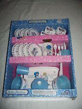 NIB RARE Holly Hobbie 20+ Piece Dish Kitchen Set 1990 by Chilton Globe