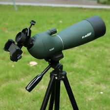 New 70mm 25-75x Angled Zoom Spotting Scope Waterproof+ 1Phone Mount Adapter