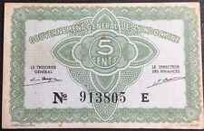 French Indochina 5 Cents 1942 vf
