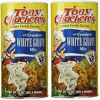 Tony Chachere's Creole White Gravy Mix, 10 Ounce Canister (Pack of 2)