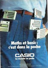 Publicité Advertising 057  1984  Casio  calculatrices  maths & basics
