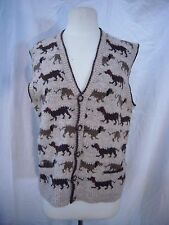 Sasha Kapan Knit Wool Vest Dogs Made in Wales