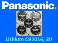 *Save $1 Buy 2 Packs* 5 pieces Panasonic CR2016 3v Lithium battery Free Shipping