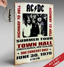ACDC CONCERT 1979 SHABBY POSTER A4 30X21cm Photo Print Room Wall Decor GIFT IDEA