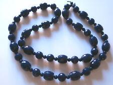 VISTOSA COLLANA CON PERLE BLU NOTTE IN RESINA black necklace- J17