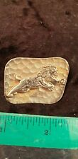 Ladies Brooch Used Gold Plated Lion