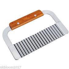 ACCIAIO Inox Patate Chip IMPASTO vegetale Crinkle ONDULATA CUTTER Blade (strumento)