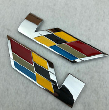 New Pair 3D Trunk Fender V Series Emblem Badge for Cadillac SRX XTS ATS CTS ATSL