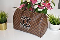 Handpainted Louis Vuitton Tasche Bag Speedy Damier Monogramm Echtheitszertifikat