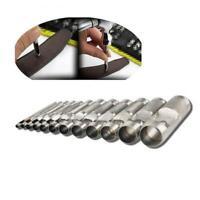 10Pcs/Set Punch Hollow Hole 1-10mm Puncher Belt  Leather Craft Tools Handwork