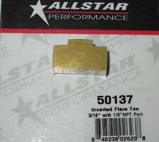 """Brake Adapter Inverted Flare Fitting 3/16"""" tee w/ 1/8"""" -27 NPT port ALL50137"""