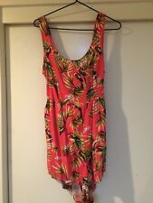 Cotton On Ladies Pink Floral Play Suit Size S Good Condition