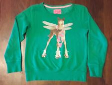 Pull sweat Fille vert cheval roller  NEXT 11 ans tbe